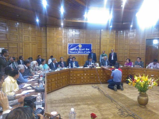 Governor Raghuram Rajan interacting with media at Shimla