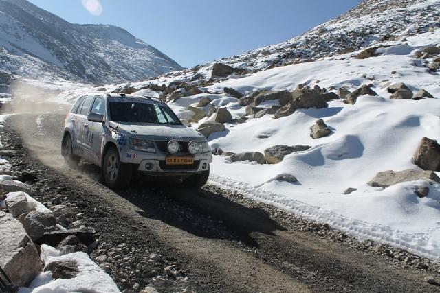 Raid Xtreme passing by Kunzum snows