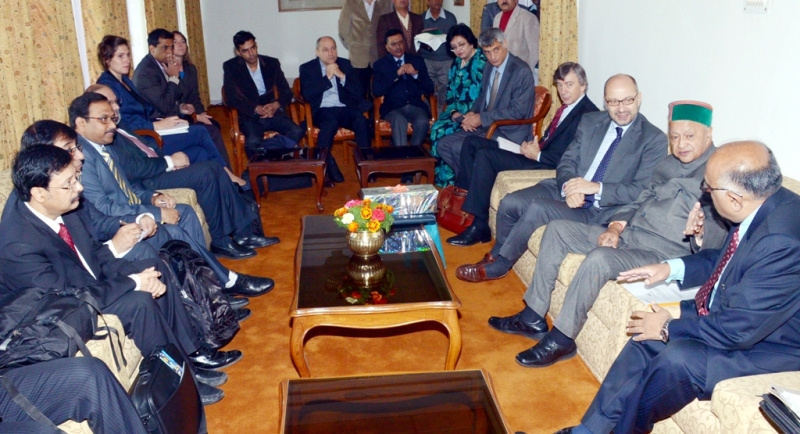 The  French business delegation with Chief Minister