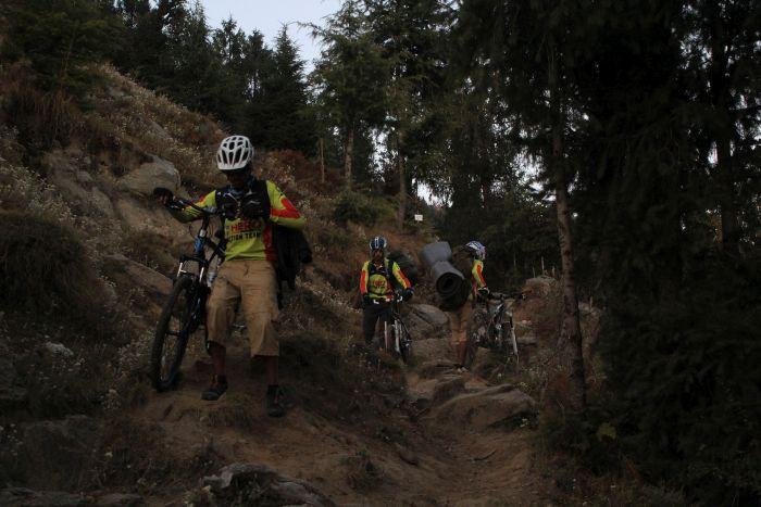 Mountain bikers cycle to Churdhar_4