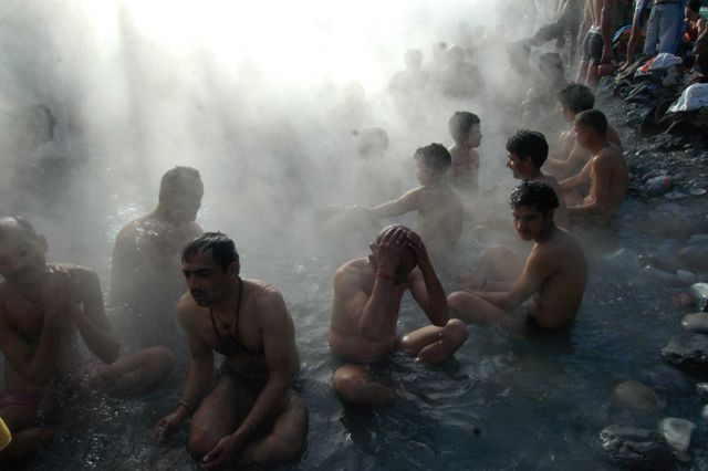 Vashisht Hot Springs in District Kullu