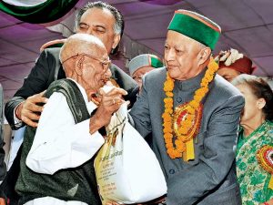 Himachal CM launching the scheme at Shimla in Sept 2013