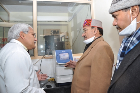 MInister inspects lab