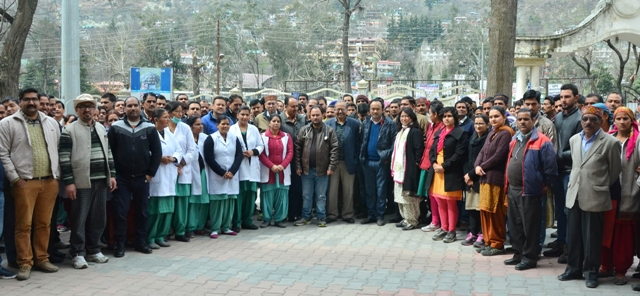 Doctors, health workers protest security concerns at Kullu
