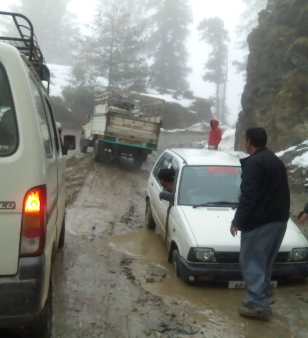 Theog-Hatkoti-Road   (Photo Courtesy - The News Himachal