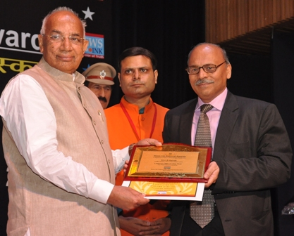Shri R.N. Misra, CMD, SJVN Receiving Award