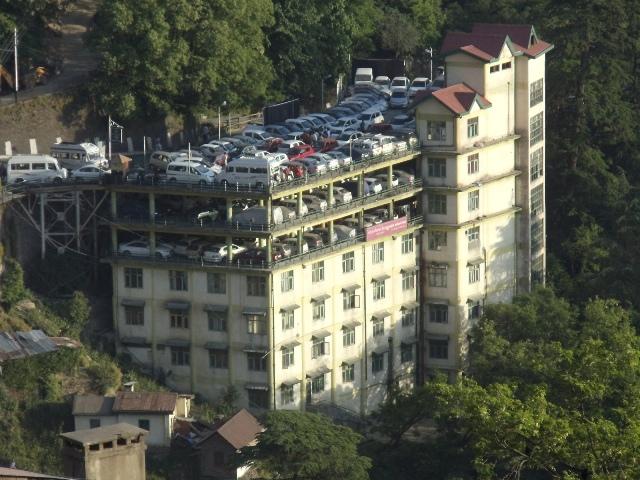 hybrid parking - commercial space model in Shimla